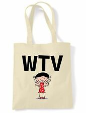 WTV SHOULDER  TOTE BAG - Whatever Text Language Facebook Twitter