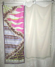 2 PUCCI $400 Pink & COLLETTE DINNIGAN Ivory Scarves
