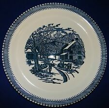 American Homestead Winter Royal China Currier Ives Cake Plate Mothers Day Gift