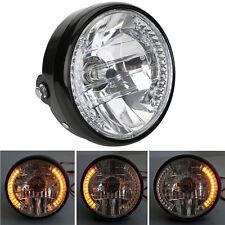 """7"""" Headlight 26 LED Turn Signals For CUSTOM METRIC BOBBER CHOPPER CAFE RACER"""