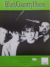 Blur: Country House (Piano/Vocal/Guitar Sheet Music) OUT OF PRINT MINT CONDITION