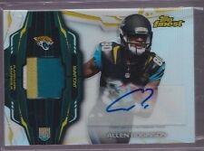 2014 Topps Finest Allen Robinson On Card Auto 3 Color Patch Rc