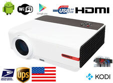 New Full HD 1080P 5000 Lumens 16:9 Home Theater Android TV HDMI LED Projector