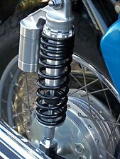 NEW Honda CB750 Alloy Remote Reservoir Shocks for 1969-1978. Cafe Racer.