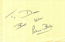 ENGLISH ACTRESS PATRICIA BRAKE HANDSIGNED 6 x 4 AUTOGRAPH ALBUM PAGE