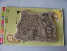 HOUSE MOUSE RUBBER STAMPS CLING GINGERBREAD HOUSE STAMP