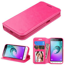 For Samsung GALAXY Express 3 Leather Flip Wallet Case Cover Stand Pouch PINK