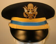 US Army Company Grade Officer Intelligence Dress Blues Uniform Hat Cap w/ Crest