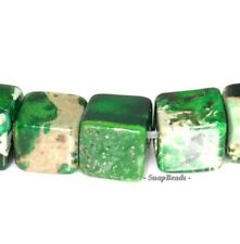 4Mm Imperial Jasper Gemstone Green Perfect Square Cube 4Mm Loose Beads 7.5""