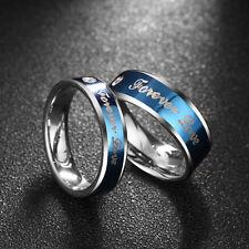 Titanium Steel Forever Love Ring Men Women Promise Couple Wedding Band Ring Set