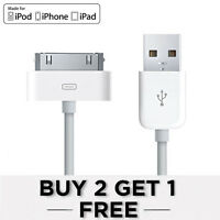 Genuine Apple iPhone 4S 4 3GS iPad 2 3 iPod 30Pin to USB Data Charger Cable Lead