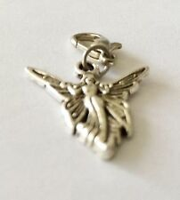 LOVELY SILVER ANGEL WITH WINGS CLIP ON CHARM FOR BRACELET -TIBETAN SILVER - NEW