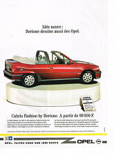 PUBLICITE ADVERTISING 064 1991  OPEL  la CABRIO FASHION by BERTONE