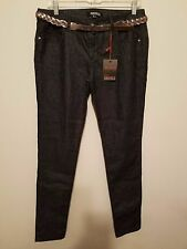 NWT# FOREVER 21 Woman Jeans Dark Demin/silver Color Legging Pants Size 29 w belt