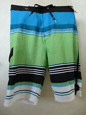 NEW RIP CURL SURF OVERRULED MIRAGE BOARDSHORTS GREEN FLASH SHORTS SIZE 32 M158