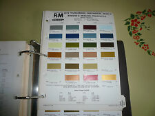 1974 Lincoln Continental Mark IV Thunderbird R-M Color Chip Paint Sample