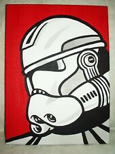 Canvas Painting Star Wars Clone Commander Red Pop Art 16x12 inch Acrylic