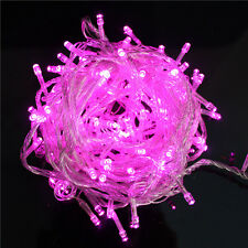 32ft 100 LED Christmas Tree Fairy String Party Lights Lamp Xmas Waterproof Pink