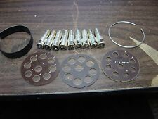 ITT cannon plug silver plated contacts and parts set 9 contacts + parts DMS