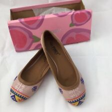 Via Pinky Collection Shoes  7.5 Paso - 81 Misty Rose Southwestern Design On Toes