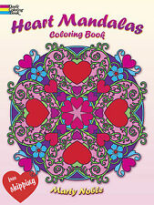 Adult Coloring Book Heart Mandalas Stress Relieving Grownups Art NEW