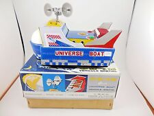 Universe Boat ME767 Tin Litho Battery Operated Spaceship in Box