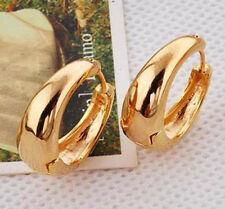 Premier Designs Smooth 9K Real Yellow Gold Filled Ladies Hoop Earrings,F3828