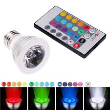 3W E27 16 Color LED RGB Magic Spot Light Bulb Lamp w/ Wireless Remote Contr