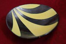 50´s Design Kidney Shaped  Fritz van Daalen pottery Schale