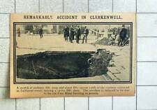 1915 Sinkhole Accident Calthorpe Street Old Fleet River Bursting Bounds