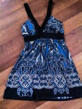 Euc 21 Empire Waist Black & Teal Dress Size M Forever 21