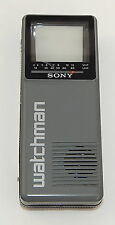 VINTAGE SONY WATCHMAN PORTABLE TV FD-10A TINY HANDHELD TELEVISION TESTED WORKS