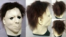 Michael Myers Latex Mask & Hair Halloween Adult FILM Fancy Dress TRACKED POST