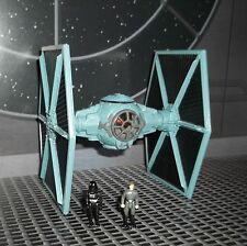 STAR WARS ACTION FLEET IMPERIAL TIE FIGHTER COMPLETE W TARKIN & PILOT MINI FIGS