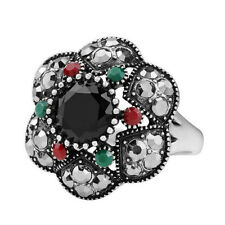 New Ladies Fashion Retro Jewelry Inlaid Crystal Gold Plated Gold Ring 10 #