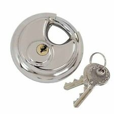 70MM DISC PADLOCK SHACKLE STAINLESS STEEL 2 KEYS WATERPROOF DISCUS PADLOCKS