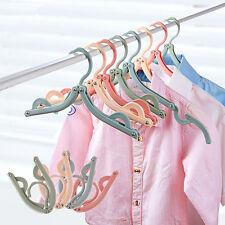 Portable Slotted Clothes Hanger Laundry Folding Holder Garment Travel Organiser
