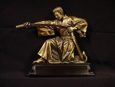 KARATE KUNG FU SWORD MARTIAL ART ~ Bronze Metal Finish Trophy, Statue, Figurine