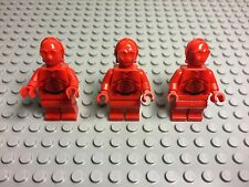 Lego New Star Wars Rare R-3PO Red Mini Figure X3 (from Set #7879)