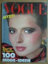 VOGUE GERMANY 2 - 1982 Isabella Rossellini Karneval Venedig  Mode Beauty Versace