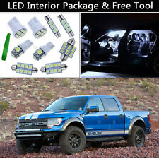 7PCS White LED Interior Lights Package kit Fit 2010-2014 Ford Raptor or F-150 J1