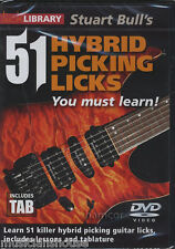 51 HYBRID PICKING LICKS YOU MUST LEARN to Play Lick Library Gitarre DVD Rock Neu