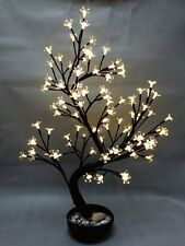 White Cherry Blossom LED Tree in Pot - Home Decoration 27""