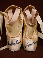 Vintage Autographed Bloch Pink Pointe Ballet Shoes Julie Hays Ricketts Shabby