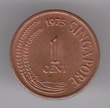 Singapore 1 Cent 1975 Bronze Coin