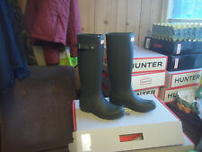 Hunter Wellies Wellingtons en Halifax Verde Oliva Tamaño 4 de alto damas