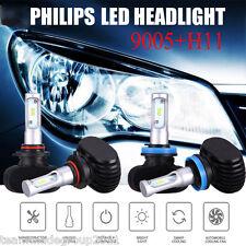 9005 H11 LED Headlight Total 4PCS 360W 36000LM Combo Kit 6500K Hi/Low Beam Bulbs