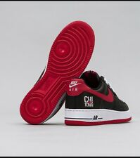 NEW Nike AIR FORCE 1 CHI TOWN Size 13 Chicago Bulls LOW RETRO Black Red OG Max