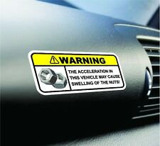 Funny Swelling Nut Warning Sticker Set Vinyl Decal JDM Car Decal For Honda Ford