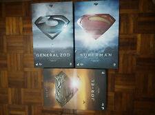 Hot Toys MAN OF STEEL set of 3: MMS200 Superman MMS216 General Zod MMS201 Jor El